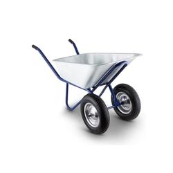 Waldbeck Schubkarre Heavyload Schubkarre 120l 320kg Gartenkarre 2-Rad Stahl blau