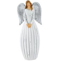 X-MAS Engel Tisch Figur Weihnachts Stand Dekoration Advent Schmuck Flügel silber Eglo41224