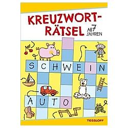 Kreuzworträtsel (Gelb/Schwein)  ab 7 Jahren. Die Rätselschmiede  - Buch