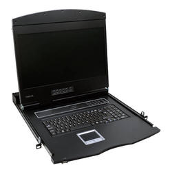 LogiLink Professional 19 LCD KVM Konsole mit 19 TFT Monitor und Tastatur (DE)