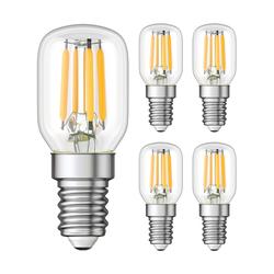 E14 LED Kühlschrank-Leuchtmittel klar T25 kaltweiß 6000K 2W = 26W 250lm, 5 Stk.