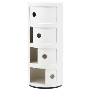 Kartell Componibili 4 Elemente Container weiß