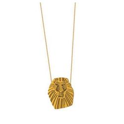 Goebel Kette mit Anhänger Couture Kingdom König der Löwen Mufasa Gold