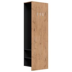 Emotion Garderoben-Set Garderobenpaneel Urban 3 Haken Garderobenstange 6 Paar Schuhe Oak