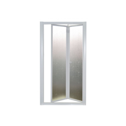 Nischentür, Nischendusche, Duschwand, Domi, Acryl-Glas / Kunststoff, Fb. weiss 83-90 cm
