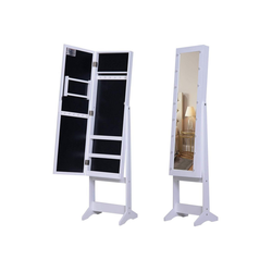 HOMCOM Schmuckschrank LED Schmuckschrank mit Spiegel