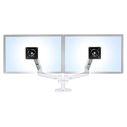 LX Dual Monitor Arm - für 2 Bildschirme bis 27 Zoll, Weiß - für 2 Bildschirme