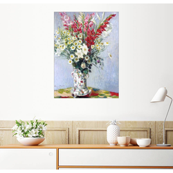 Posterlounge Wandbild, Blumenstrauß aus Gladiolen, Lilien und Margeriten 60 cm x 80 cm