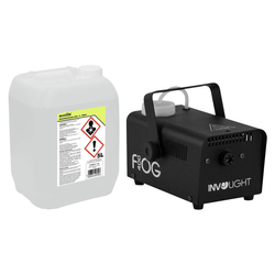 Involight FOG 400 Nebelmaschinen Set inkl. Smoke Fluid, 5L
