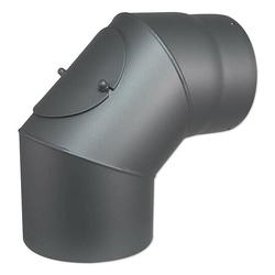 Abgasbogen 90° für Kaminofen - Ø 150 mm - mit Tür - 80345044