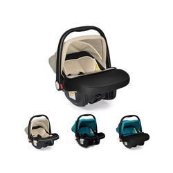 Moni Babyschale Kindersitz Babyschale Luna Gruppe 0+, 3 kg, (0 bis 13 kg) mit Sonnendach natur