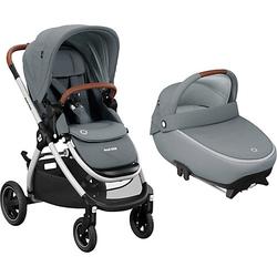 Sportwagen Adorra + Kinderwagenaufsatz Jade, Essential Grey