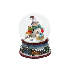 SIGRO Schneekugel Schneekugel Schneemann mit Schal