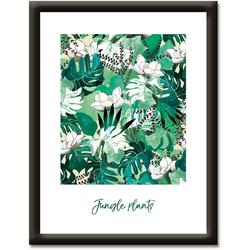 Artland Wandbild Dschungelpflanzen, Sprüche & Texte (1 Stück) 37 cm x 47 cm