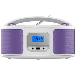 Cyberlux CL-320 tragbarer CD-Player (CD-Player, Tragbarer CD-Player, FM Radio mit MP3 USB)