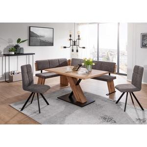 Schösswender Kota moderne Eckbankgruppe eiche mit Tisch ausziehbar