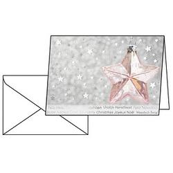 10 SIGEL Weihnachtskarten Rose Star DIN A6