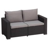 ALLIBERT California Loungesofa 2-Sitzer graphit/panama cool grey