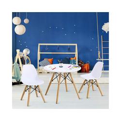 COSTWAY Kindersitzgruppe Kindersitzgruppe, (3-tlg), 3Tlg. Kindermöbel Kindertischgruppe Set mit Esstisch und 2 Stühlen