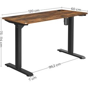 Elektrischer Höhenverstellbarer Schreibtisch mit Motor Tischgestell 73-114 CM