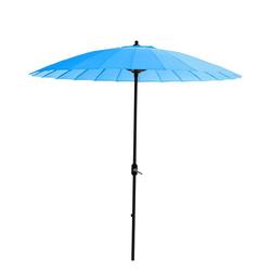 GMD Living Sonnenschirm MANILLA, dekorativer Stocksonnenschirm mit 16 Fiberglas Speichen blau