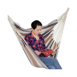 AMANKA Hängestuhl Hängestuhl XL Hängesessel aus 100% Baumwolle, beige bis 150 kg 110x145 cm