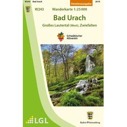 Bad Urach - Großes Lautertal (West) Zwiefalten Wanderkarte 1:25.000