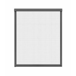 Insektenschutz-Rollo für Fenster, 100 x 160 cm in anthrazit