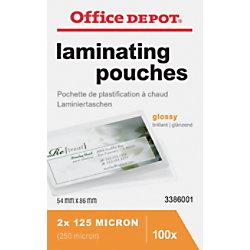 Office Depot Laminierfolien Glänzend 2 x 125 (250) Mikron ID Kreditkartenformat 100 Stück