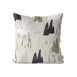 Kissenbezug, VOID (1 Stück), Skandinavische Berge Kissenbezug Berge Wandern Skandinavien Design Wohnzimmer 40 cm x 40 cm