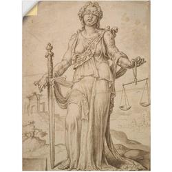 Artland Wandbild Justitia., Frau (1 Stück) 45 cm x 60 cm