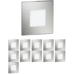LED Treppen-Licht FEX Treppenbeleuchtung, eckig, 8,5x8,5cm, 230V, blau, 12 Stk.