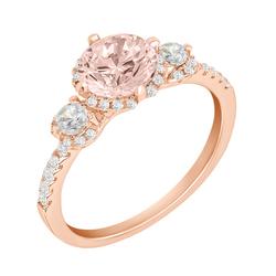 Verlobungsring aus Gold mit Morganit und Diamanten Dilada