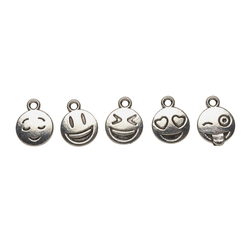 VBS Anhänger Set Charms Emoticons, 5 Stück