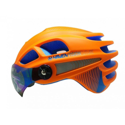 HAVEN Fahrradhelm VISION FUTURE, Fahrrad Helm aufklappbares Visier orange S / M
