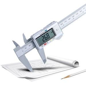 duquanxinquan Kunststoff Schieblehre Messschieber Digitale Schieblehre 150 mm Meßschieber für Haushalt und Industrie Messung Messlehre Messwerkzeuge mit LCD Display