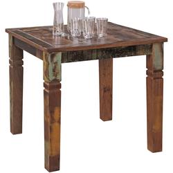 FineBuy Esstisch 80 x 80cm Esszimmertisch Shabby Tisch Bootsholz Küchentisch