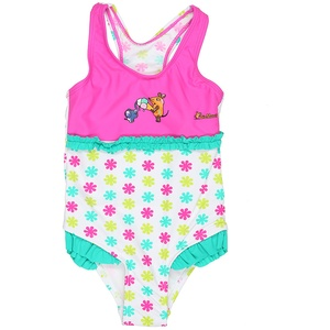 Playshoes Kinder-Badeanzug in Gr. 74/80, pink, meadchen