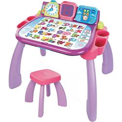 3 in 1 Magischer Schreibtisch pink rosa/lila