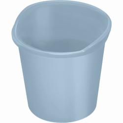 """helit """"the joy"""" Papierkorb, 13 Liter, Hochwertiger, stoßfester Papierkorb für das Büro oder zu Hause, Farbe: hellblau"""