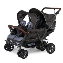 CHILDHOME Vierlingskinderwagen Quadruple Anthrazit