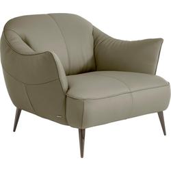 NATUZZI EDITIONS Sessel Estasi, in Leder oder Stoff mit modernen Metallfüßen natur