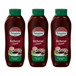 Develey 'Barbecue Sauce' Salsa Barbecue 875 ml 3er Pack