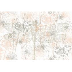 Architects Paper Fototapete Atelier 47 Dragon Fly 2, glatt, floral, (4 St) orange