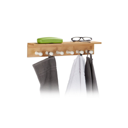 relaxdays Handtuchhalter Handtuchhalter Bambus für die Wand