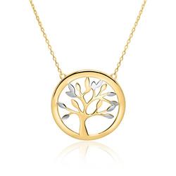 Halskette Lebensbaum für Damen aus 375er Gold