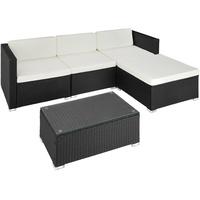 Tectake Florenz Lounge-Set schwarz