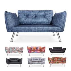 Easysitz 2-Sitzer Schlafsofa Zweisitzer Couch, Schlafsofa Zweisitzer Mehrere Farbvarianten blau