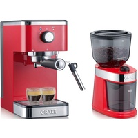 Graef Salita Set + Kaffeemühle CM 203 rot