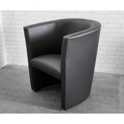DELIFE Cocktailsessel Goya Schwarz Design Sessel Lounge Sessel, Cocktailsessel